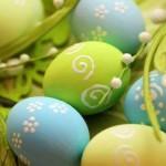 Πασχαλινά αυγά διακοσμημένα με ζάχαρη άχνη.
